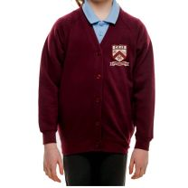 Charlton Kings Junior School Sweat Cardigan with embroidered badge