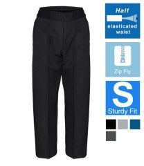 Sturdy Fit Flat Front Trouser