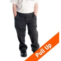 Pull Up School Trousers - Grey