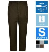 Sturdy Fit Pleated Front Trousers