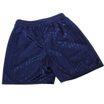 Navy shadow striped school shorts, elasticated waist, draw string in larger sizes.